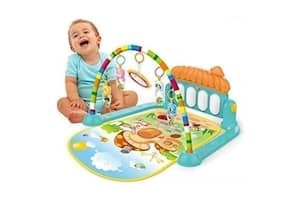 Cable World Kick and Play Musical Keyboard Mat Piano Baby Gym And Fitness Rack