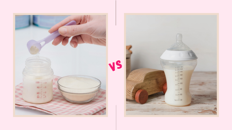 Formula Milk vs Cow Milk