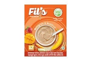 Fils Organic Baby Food Cereal with Milk, Multi Grains and Multi Fruits