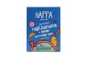 Happa Organic Baby Food Sprouted Ragi + Mango + Banana Porridge Mix