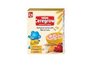 Nestle CEREGROW Growing Up Multigrain Cereal with Milk and Fruits
